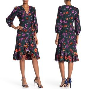 Floral wrap dress Calvin Klein